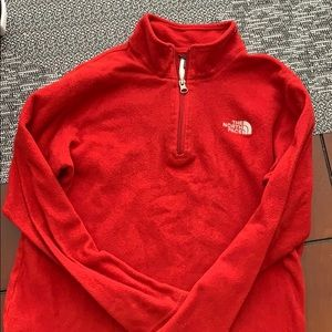 Youth Unisex Red North Face Fleece